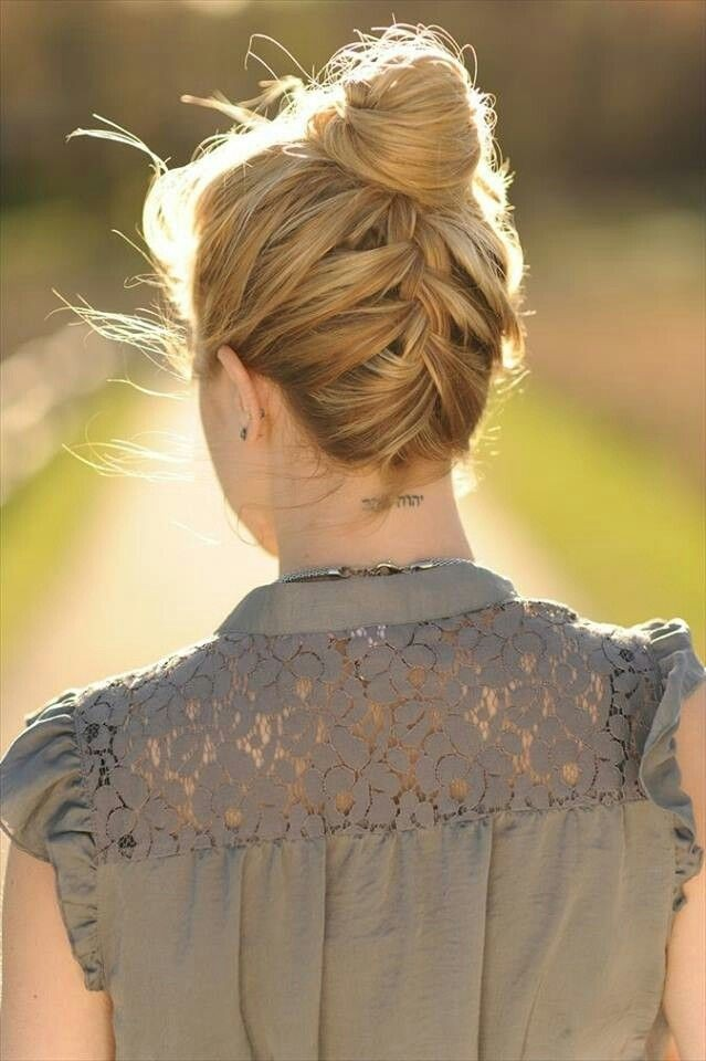 High-Bun-Updos-for-Braid-Updo-Hairstyles-Ideas-for-Summer