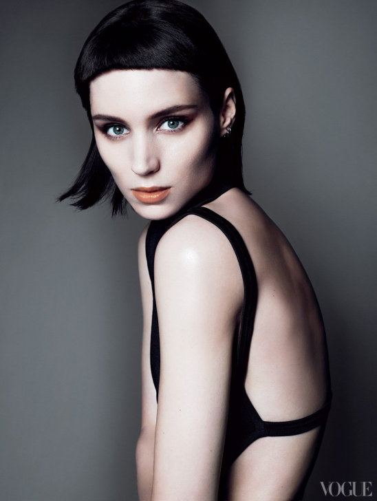 the girl with the dragon tattoo rooney mara covers vogue