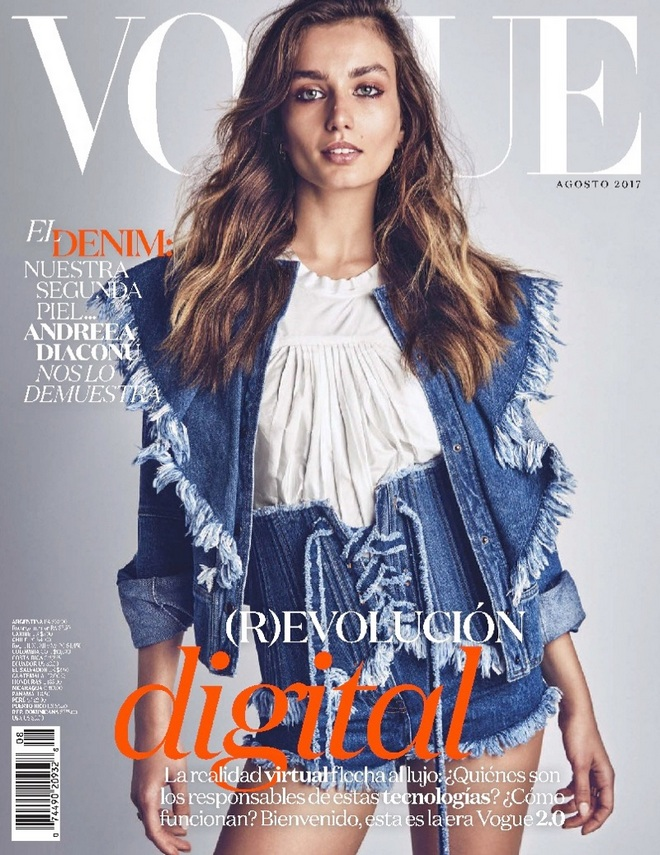 Andreea Diaconu Denim Vogue Mexico August 2017 Cover Editorial01