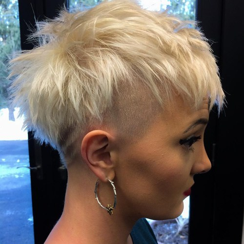 8 womens short blonde undercut