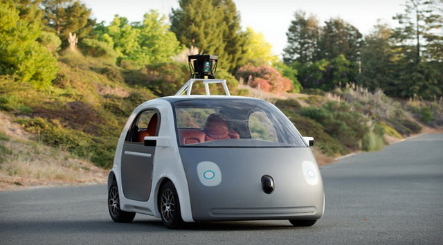 Future technology Concept of the car with the autopilot Google