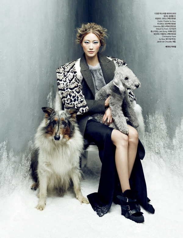Lee Hyun Yi by Choi Yong Bin Frozen Moments - Harpers Bazaar Korea January 2014 1