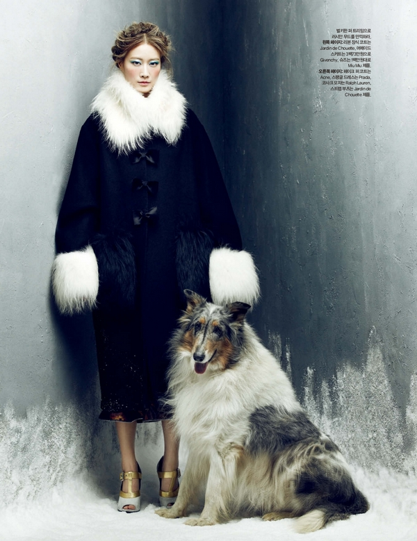Lee Hyun Yi by Choi Yong Bin Frozen Moments - Harpers Bazaar Korea January 2014 5