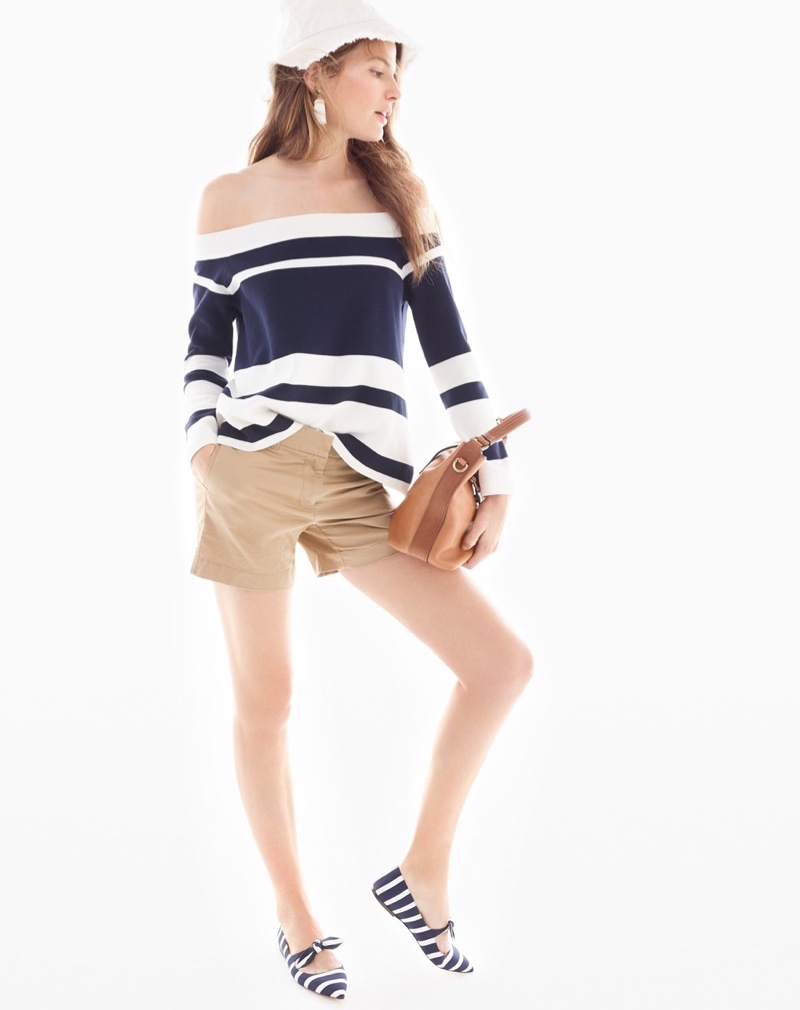 J Crew Stripe Outfit Ideas 2017 Lookbook01